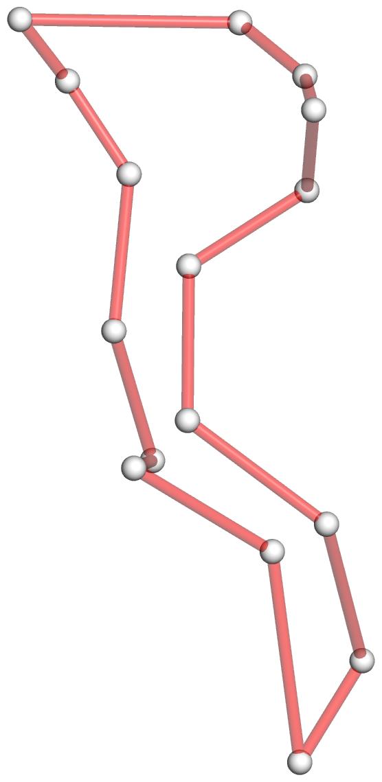 """""""tRNA 1ehz 4-way junction loop in 3D after 'convert'"""" title=""""tRNA 1ehz 4-way junction loop in 3D after 'convert'"""""""
